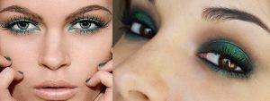 Maquillage pour les robes vertes